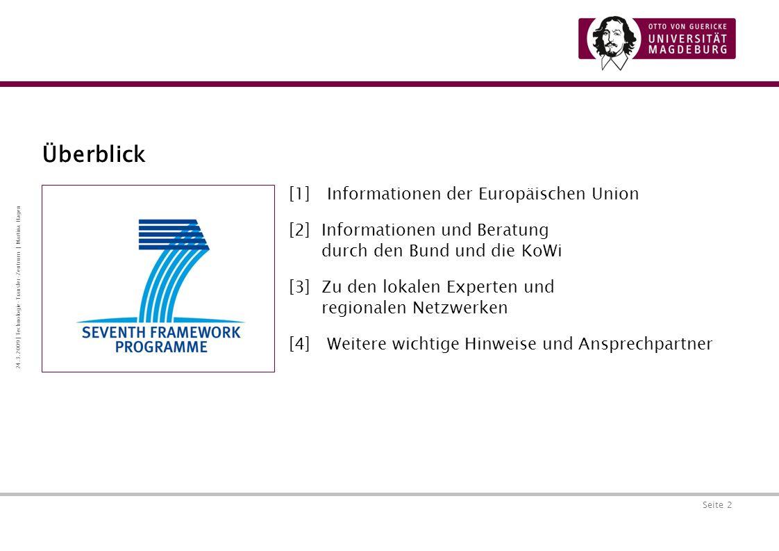 Überblick [1] Informationen der Europäischen Union